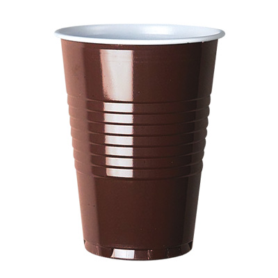 7oz PS Tall Brown and White Vending Cup Image