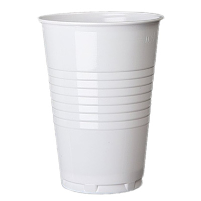9oz PS Tall White Vending Cup Image