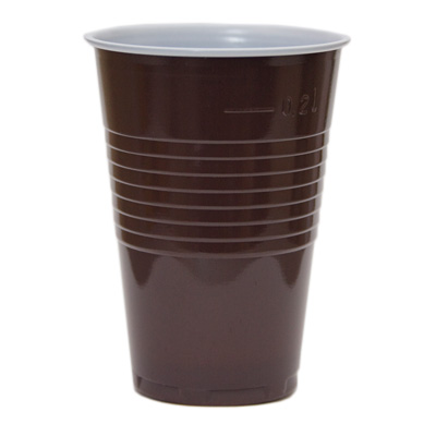 9oz PS Tall Brown and White Vending Cup Image
